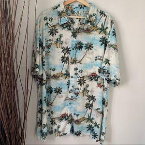 Batik Bay Hawaiian Short Sleeve Button Down 2XLT
